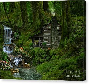 The Summer Cottage Canvas Print by Lynn Jackson
