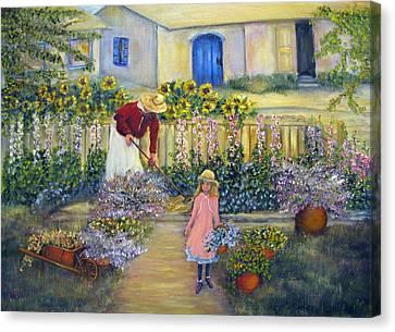 The Summer Garden Canvas Print by Loretta Luglio