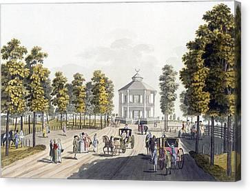 Pleasure Canvas Print - The Summerhouse At Prater, Vienna, 1792 by Johann Ziegler