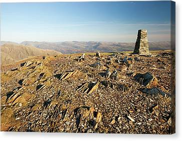 The Summit Of Coniston Old Man Canvas Print by Ashley Cooper