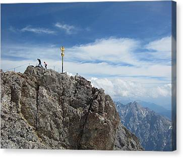 Canvas Print featuring the photograph The Summit by Pema Hou