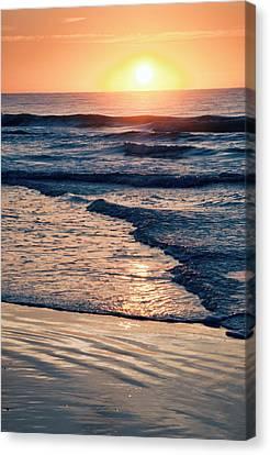 Sun Rising Over The Beach Canvas Print by Vizual Studio