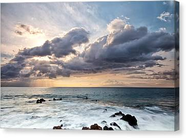 The Sun Looking Down Canvas Print by Jon Glaser