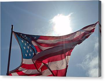 The Sun Of America 2 Canvas Print by Sheldon Blackwell