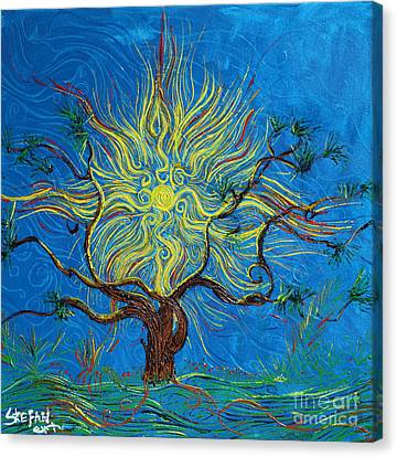 The Sun Tree Canvas Print by Stefan Duncan