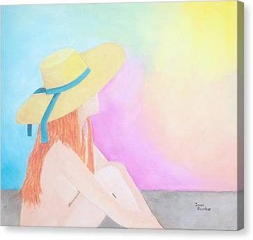 The Sunbathing Canvas Print