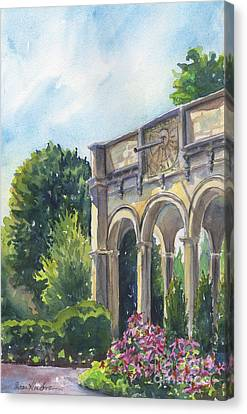 Canvas Print featuring the painting The Sundial by Susan Herbst