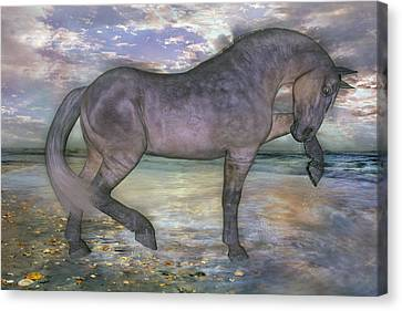 The Sunrise Horse Canvas Print by Betsy Knapp
