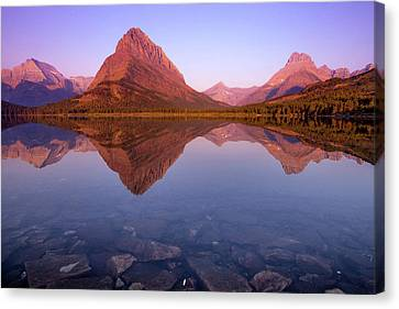 West Glacier Canvas Print - The Sunrise On Mount Grinnell As Seen by Ben Horton