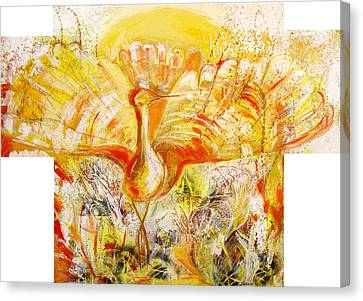 The Sun's Bird Canvas Print by Otilia Gruneantu Scriuba