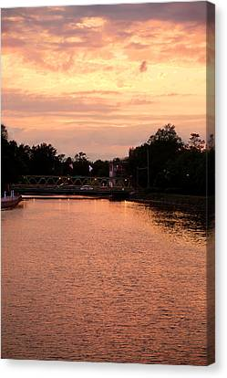 Canvas Print featuring the photograph The Sunset by Courtney Webster