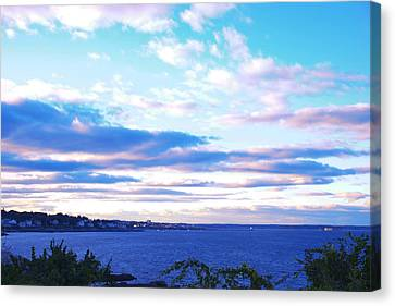 The Sunset In Portland Maine Canvas Print by Paul Ge