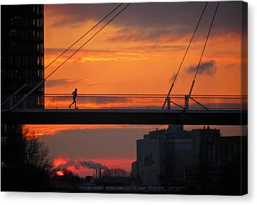 The Sunset Jogger Canvas Print
