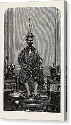 The Supreme King Of Siam In His State Robes Canvas Print