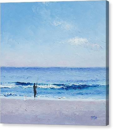 The Surf Fisherman Canvas Print by Jan Matson