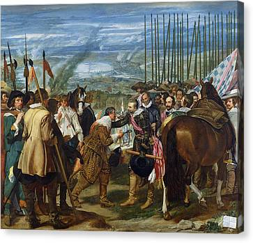 The Surrender Of Breda, 1625, C.1635 Oil On Canvas See Also 68345 Canvas Print