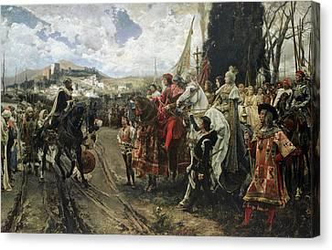 The Surrender Of Granada Canvas Print by Francisco Pradilla y Ortiz