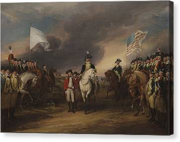 The Surrender Of Lord Cornwallis At Yorktown, October 19, 1781 Canvas Print by John Trumbull