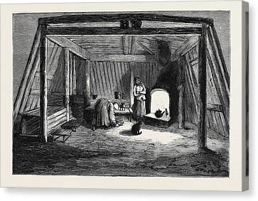 The Survivors Of The Jeannette In Siberia Interior Canvas Print by English School