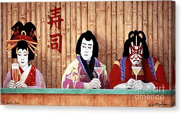The Sushi Bar... Canvas Print by Will Bullas