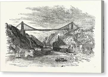 The Suspension Bridge At Clifton, Uk, Britain Canvas Print by English School