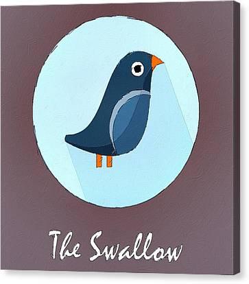 The Swallow Cute Portrait Canvas Print by Florian Rodarte