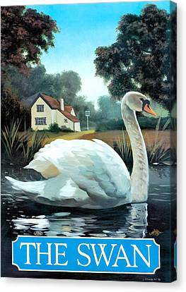The Swan Canvas Print by Peter Green