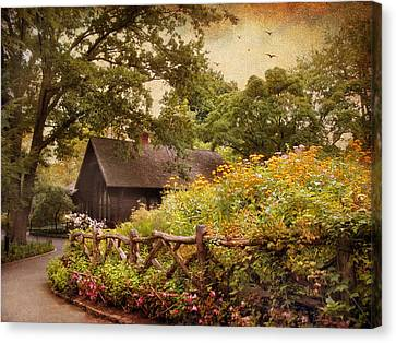 The Swedish Cottage Canvas Print by Jessica Jenney