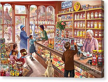 The Sweetshop Canvas Print by Steve Crisp