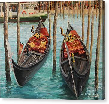The Symbols Of Venice Canvas Print by Kiril Stanchev