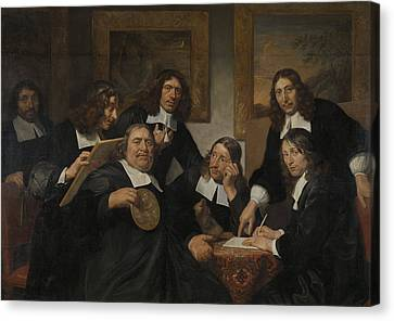 The Syndics Of The Guild Of Saint Luke In Haarlem Canvas Print by Litz Collection