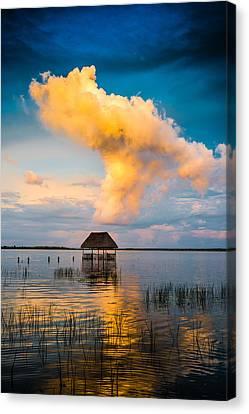 The T Cloud Canvas Print