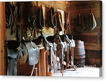 The Tack Room Canvas Print by Vinnie Oakes
