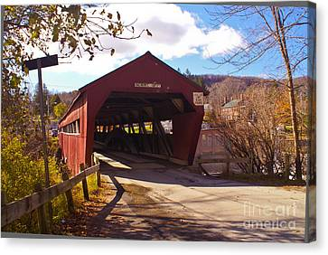 The Taftsville Covered Bridge. Canvas Print