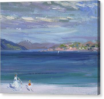 European Artists Canvas Print - The Tail Of Mull From Iona by Francis Campbell Boileau Cadell