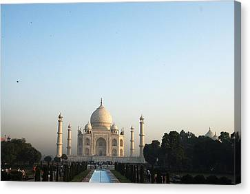 The Taj. Early Morning Canvas Print by Rajiv Chopra