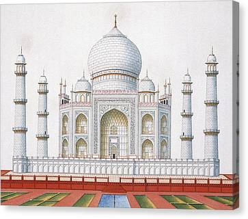 The Taj Mahal Canvas Print by German School