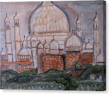 Canvas Print featuring the painting The Taj by Vikram Singh