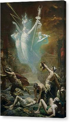 Zeus Canvas Print - The Taking Of The Temple At Delphi By The Gauls, 1885 Oil On Canvas by Alphonse Cornet