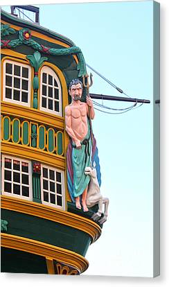 The Tall Clipper Ship Stad Amsterdam - Sailing Ship  - 01 Canvas Print by Gregory Dyer