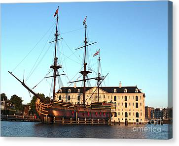 The Tall Clipper Ship Stad Amsterdam - Sailing Ship  - 05 Canvas Print by Gregory Dyer