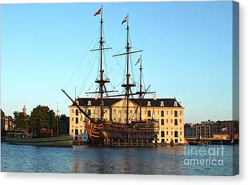 The Tall Clipper Ship Stad Amsterdam - Sailing Ship - 07 Canvas Print by Gregory Dyer
