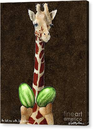 The Tall One With Big Melons... Canvas Print by Will Bullas