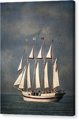 The Tall Ship Windy Canvas Print by Dale Kincaid