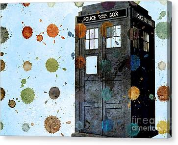 The Tardis I Canvas Print by Angelica Smith Bill
