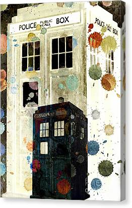 The Tardis II Canvas Print by Angelica Smith Bill