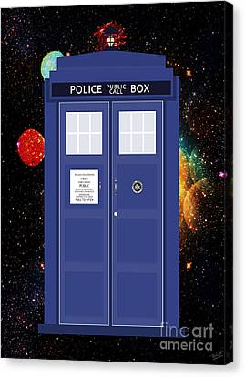 The Tardis Canvas Print by Nishanth Gopinathan