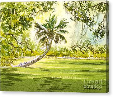 The Tarzan Tree - Wakulla Springs State Park Canvas Print by Bill Holkham