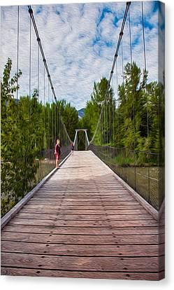 The Tawkes Foster Suspension Bridge Canvas Print by Omaste Witkowski