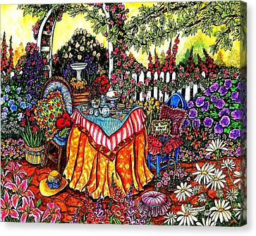 The Tea Party Canvas Print by Sherry Dole